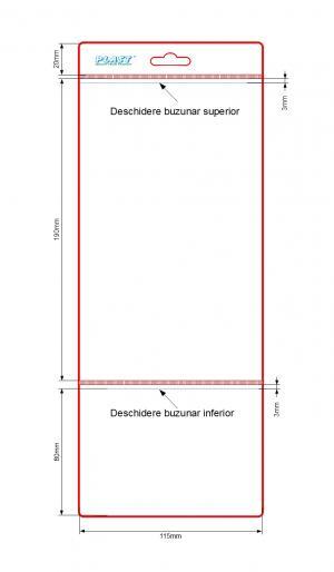Husa etichete 2 buzunare 115 x 190 + 80 mm